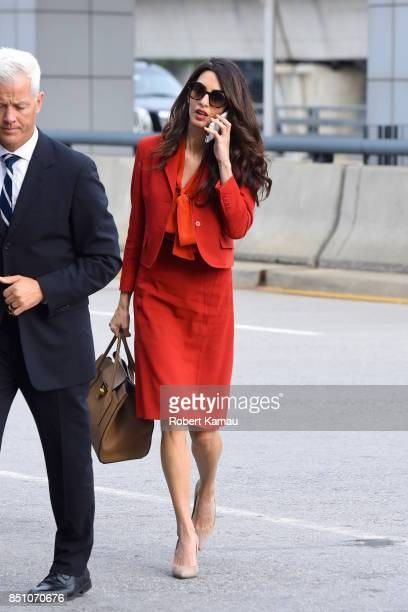 Amal Clooney seen at JFK Airport on September 21 2017 in New York City
