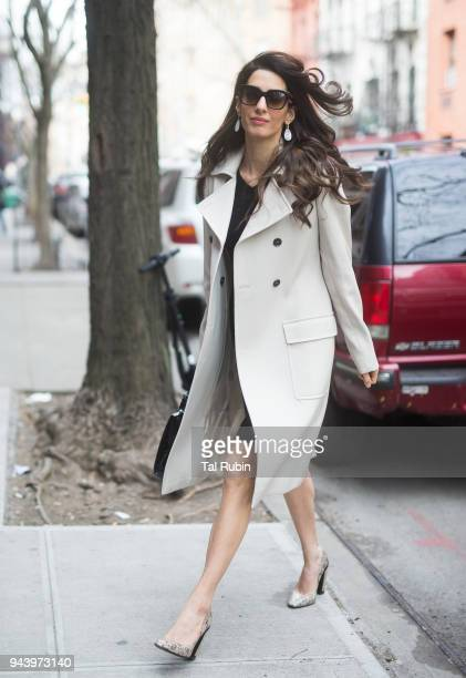 Amal Clooney seen on April 9 2018 in New York City