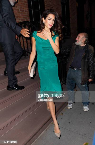 Amal Clooney seen on October 01, 2019 in New York City.