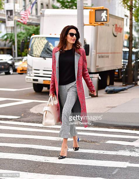 Amal Clooney seen on the streets of Manhattan on September 17 2016 in New York City