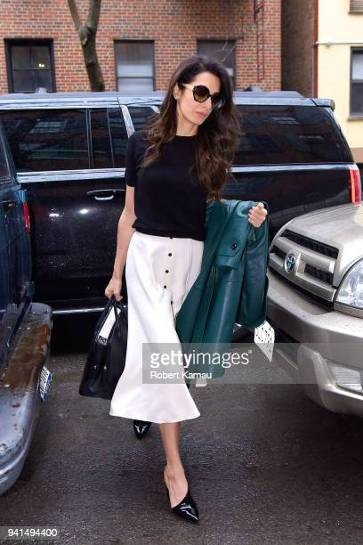 Amal Clooney seen out and about in Manhattan on April 3 2018 in New York City