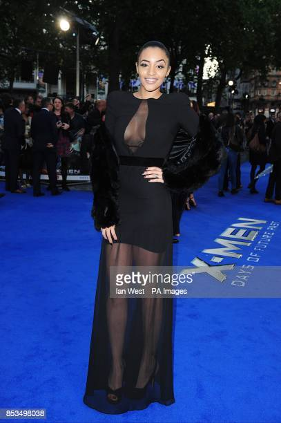 Amal Fashanu arriving at the X-Men Days of Future Past UK premieree, at The West End Odeon, Leicester Square, London.