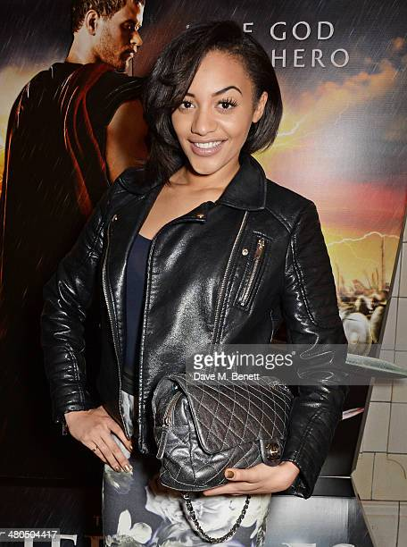 Amal Fashanu attends a VIP screening of The Legend Of Hercules at The Courthouse Hotel on March 25 2014 in London England