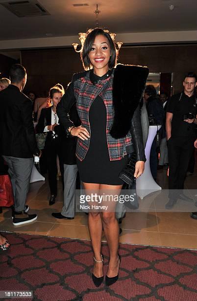 Amal Fashanu attends the Nina Naustdal Runway show following London Fashion Fashion Week SS14 at The Mayfair Hotel on September 19 2013 in London...