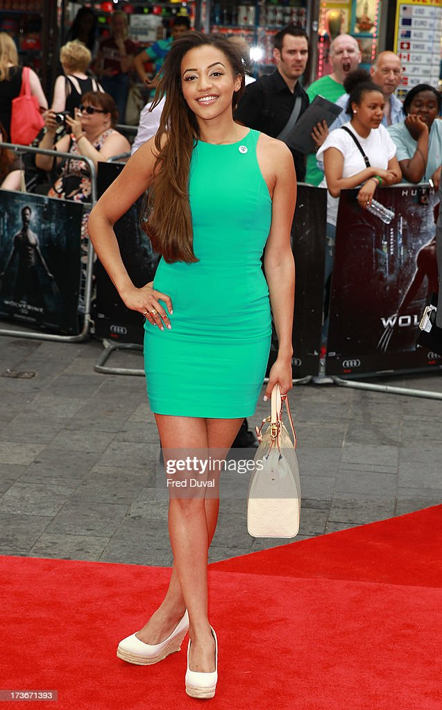 Amal Fashanu attends the UK film premiere of 'The Wolverine' at The Empire Cinema on July 16, 2013 in London, England.