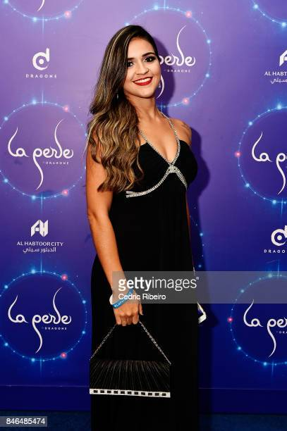 Amal Tayssir attends the World Premiere of La Perle at La Perle on September 13 2017 in Dubai United Arab Emirates