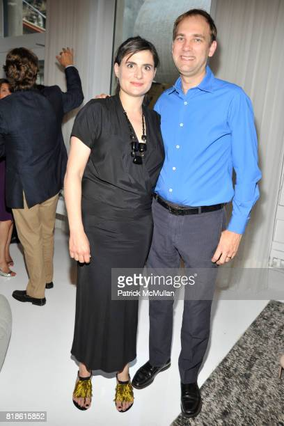 Amale Andraos and Dan Wood attend EDIBLE SCHOOLYARD NEW YORK Summer Solstice Dinner Hosted by LELA ROSE and ALICE WATERS at Home of Lela Rose and...
