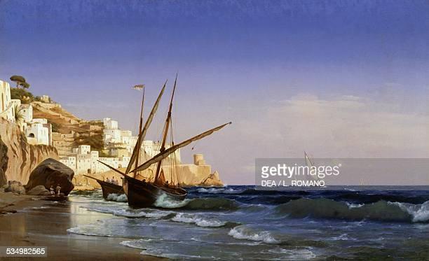 Amalfi by Carl Newman oil on canvas 85x140 cm