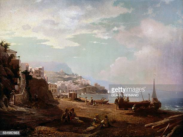 Amalfi by Franz Richard Unterberger oil on canvas 87x117 cm