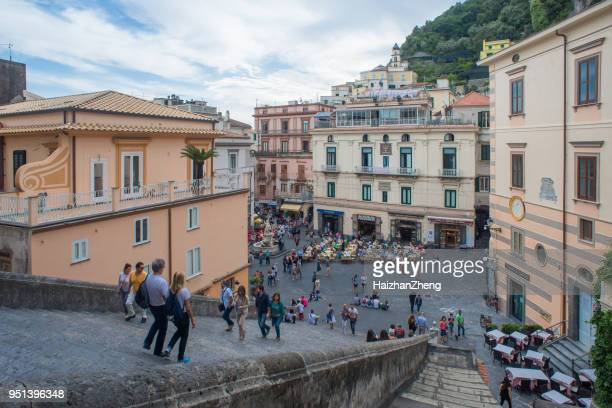 amalfi cathedral, amalfi, italy - sorrento stock pictures, royalty-free photos & images