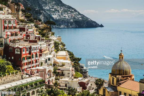 amalfi coast and sorrento peninsula: positano - sorrento stock pictures, royalty-free photos & images