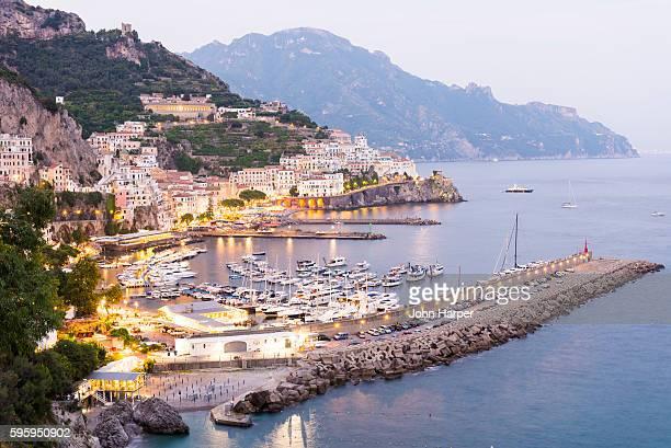 Amalfi coast at twilight, Italy