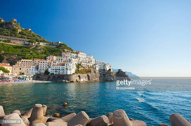 Amalfi coastline in Campania, Italy
