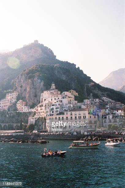 amalfi town - capri stock pictures, royalty-free photos & images