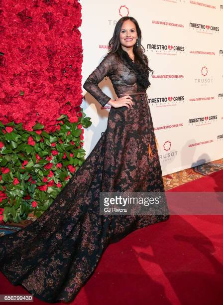 Amalia Gomez Micone attends the Maestro Cares Foundation's Fourth Annual Changing Lives/Building Dreams Gala at Cipriani Wall Street on March 21 2017...