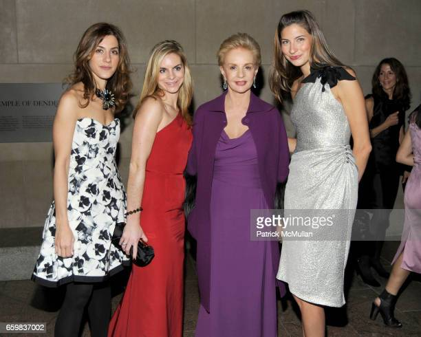 Amalia Keramitsis Megan Hayes Carolina Herrera and Sylvana SotoWard attend Apollo Circle Benefit 2009 Sponsored by Carolina Herrera at The...