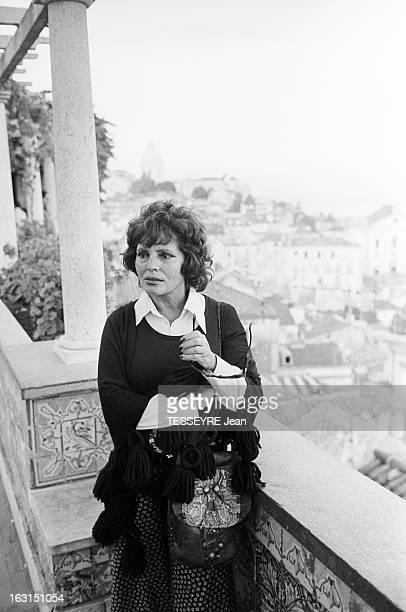 Amalia Rodrigues The Voice Of Portugal Lisbonne 6 Octobre 1975 Amalia RODRIGUES chanteuse fadiste et actrice portugaise posant debout sur les...