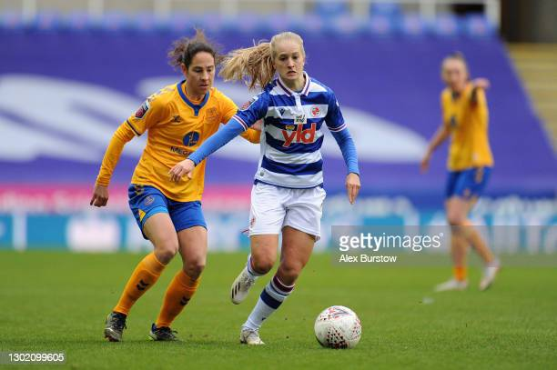 Amalie Eikeland of Reading during the Barclays FA Women's Super League match between Reading Women and Everton Women at Madejski Stadium on February...
