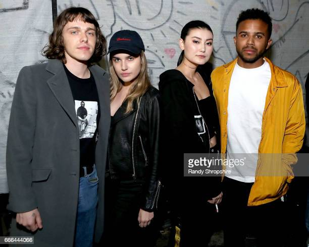 Amalie Gassmann and guests attend Gospel Party hosted by Saint Luis BRICK Magazine and No Vacancy on April 8 2017 in Los Angeles California