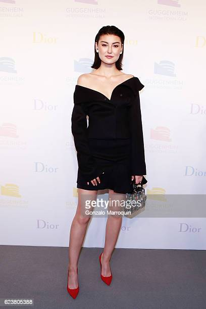 Amalie Gassmann at the 2016 Guggenheim International Gala PreParty at Solomon R Guggenheim Museum on November 16 2016 in New York City