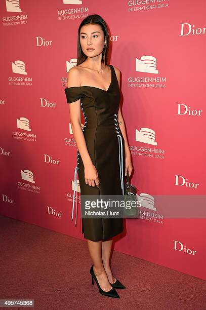 Amalie Gassmann attends the 2015 Guggenheim International Gala PreParty made possible by Dior at Solomon R Guggenheim Museum on November 4 2015 in...