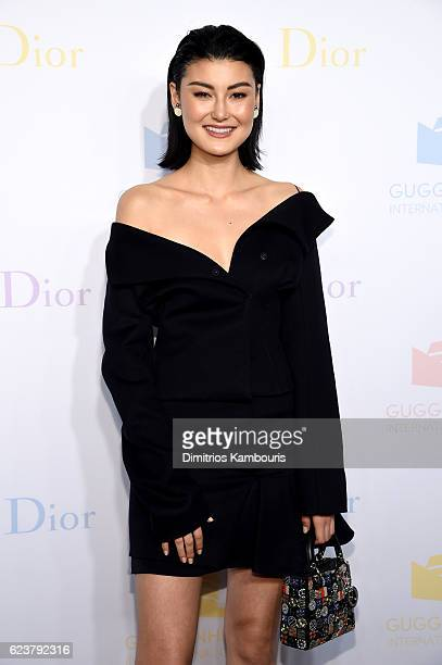 Amalie Gassmann attends the 2016 Guggenheim International PreParty made possible by Dior at Solomon R Guggenheim Museum on November 16 2016 in New...