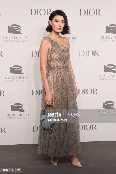 Amalie Gassmann attends the 2018 Guggenheim International Gala PreParty made possible by Dior at Solomon R Guggenheim Museum on November 14 2018 in...