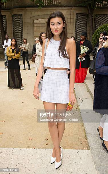 Amalie Gassmann attends the Alexis Mabille show as part of the Paris Fashion Week Womenswear Spring/Summer 2015 on September 24 2014 in Paris France