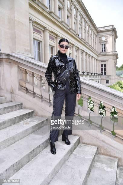 Amalie Gassmann attends the Balmain Menswear Spring/Summer 2019 show as part of Paris Fashion Week on June 24 2018 in Paris France