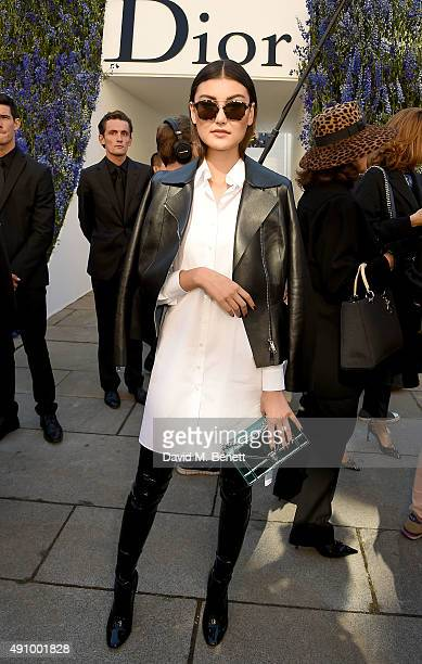 Amalie Gassmann attends the Christian Dior show as part of the Paris Fashion Week Womenswear Spring/Summer 2016 on October 2 2015 in Paris France