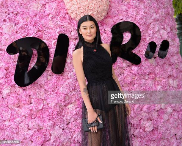 Amalie Gassmann attends the Dior Homme Menswear Spring/Summer 2019 show as part of Paris Fashion Week on June 23 2018 in Paris France