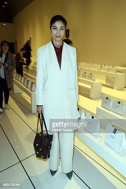 Amalie Gassmann Attends the Mugler show as part of the Paris Fashion Week Womenswear Fall/Winter 2015/2016 on March 7 2015 in Paris France