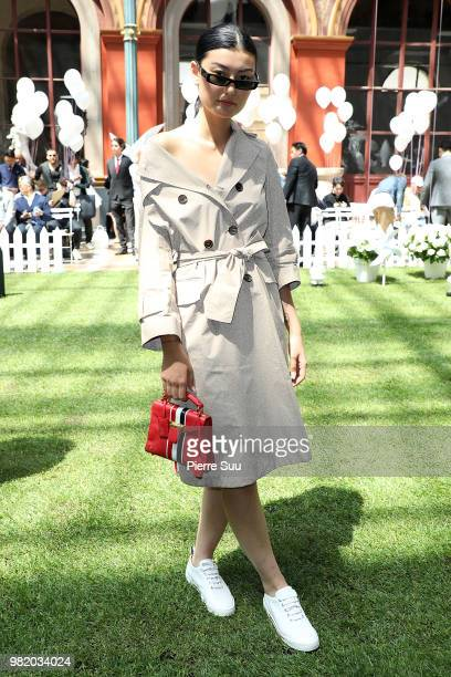 Amalie Gassmann attends the Thom Browne Menswear Spring/Summer 2019 show as part of Paris Fashion Week on June 23 2018 in Paris France