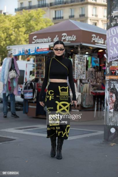 Amalie Gassmann during Paris Fashion Week Men's Spring/Summer 2019 on June 20 2018 in Paris France