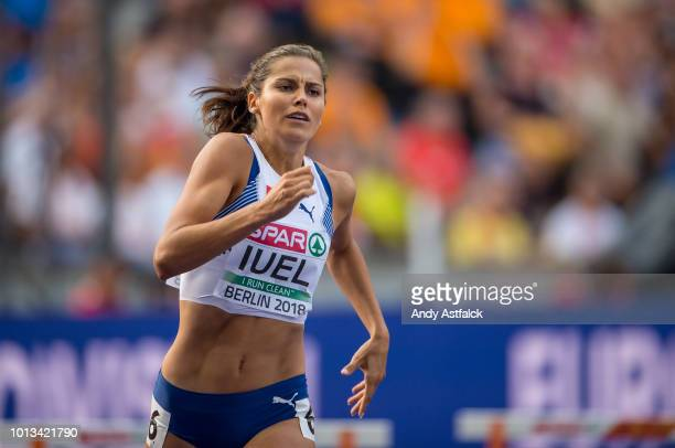 Amalie Hammild Iuel from Norway during the Women's 400m Hurdles Semi-Finals on Day 2 of the European Athletics Championships at Olympiastadion on...
