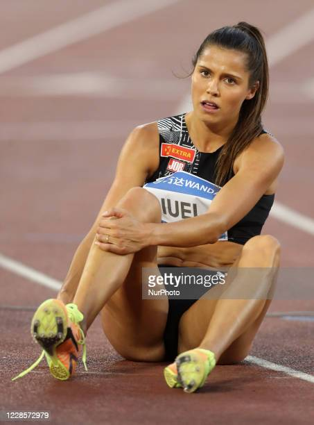 Amalie Iuel after competing in 400m hurdles women during the IAAF Diamond League Golden Gala at the Olimpico Stadium in Rome, Italy on September 17,...