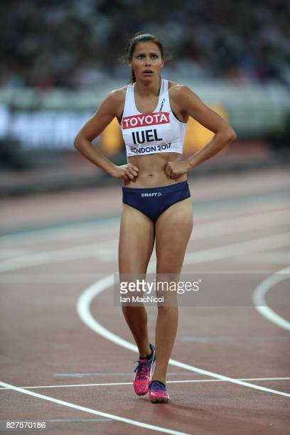 Amalie Iuel of Norway competes in the Women's 400m hurdles heats during day four of the 16th IAAF World Athletics Championships London 2017 at The...