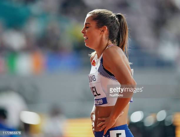 Amalie Iuel of Norway competing in the 400 meter hurdles for women during the 17th IAAF World Athletics Championships at the Khalifa Stadium in Doha...