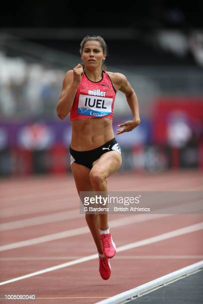 Amalie Iuel of Norway in action in the women's 400 metres during the Muller Anniversary Games at London Stadium on July 22 2018 in London England