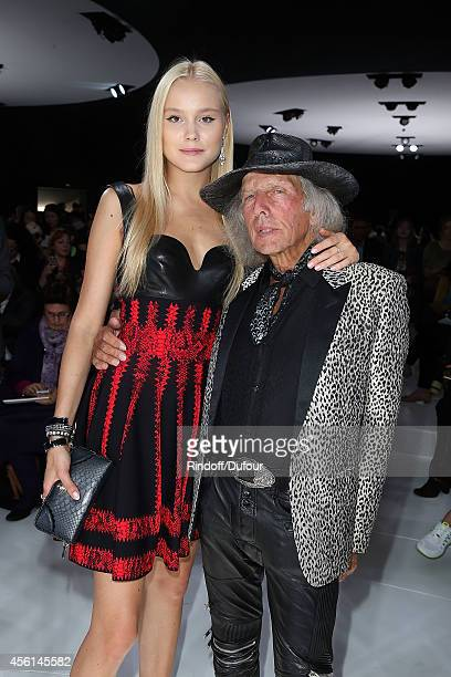 Amalie Wichmann and James Goldstein attend the Christian Dior show as part of the Paris Fashion Week Womenswear Spring/Summer 2015 on September 26...