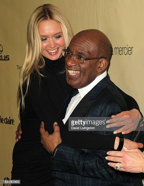 Amalie Wichmann and TV personality Al Roker attend The Weinstein Company's 2013 Golden Globe Awards After Party at The Beverly Hilton hotel on...