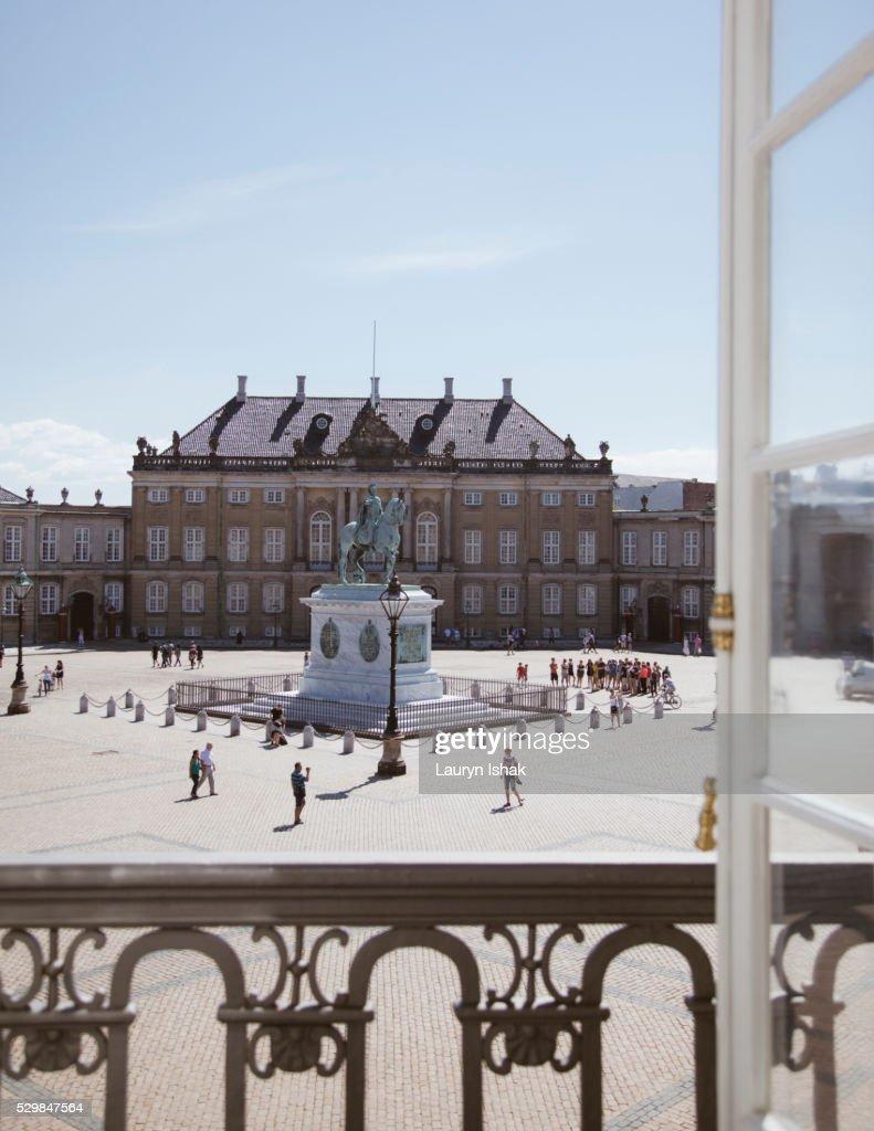 Amalienborg in Copenhagen : Stock Photo
