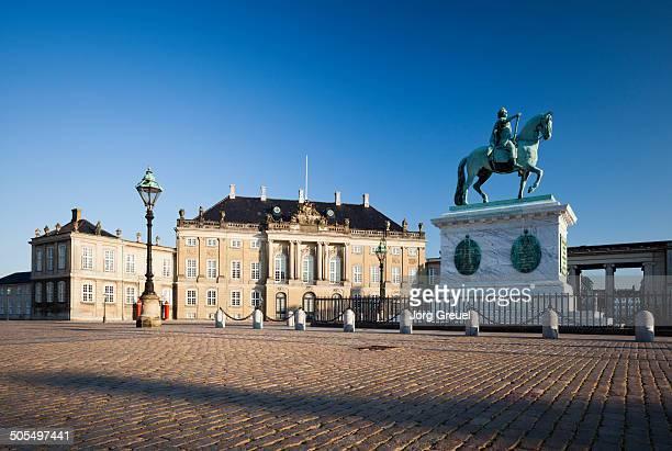 Amalienborg Palace at sunset
