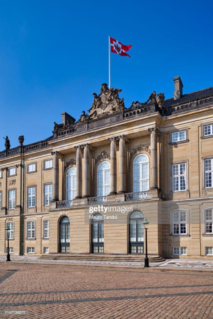 Amalienborg Palace, Copenhagen, Denmark : Stock Photo