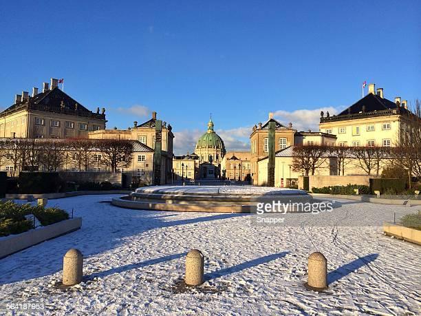 Amalienborg Palace in winter, Copenhagen, Denmark