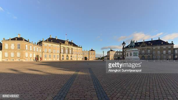 amalienborg square, copenhagen, denmark - amalienborg palace stock pictures, royalty-free photos & images