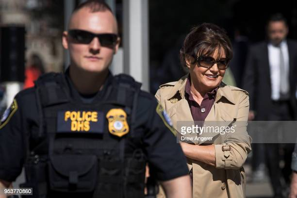 Amalija Knavs, mother of U.S. First Lady Melania Trump, arrives at U.S. Citizenship and Immigration Services at the Jacob K. Javits Federal Building,...