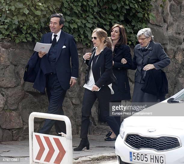Amalio de Marichalar receives condolences on March 14 2014 in Madrid Spain Princess Elena of Spain's ex motherinlaw Count of Ripalda Concepcion Saenz...