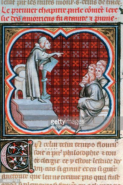 Amalric of Bena teaching c1200 In 1204 the University of Paris condemned the doctrines of Amalric of Bena as heretical Illustration from the Grandes...