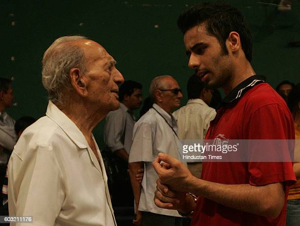 Aman Balgu winner of Youth and Mens catagery talks with Uttam Chandrana oldest living National Table Tennis champion at Mumbai City District Ranking...